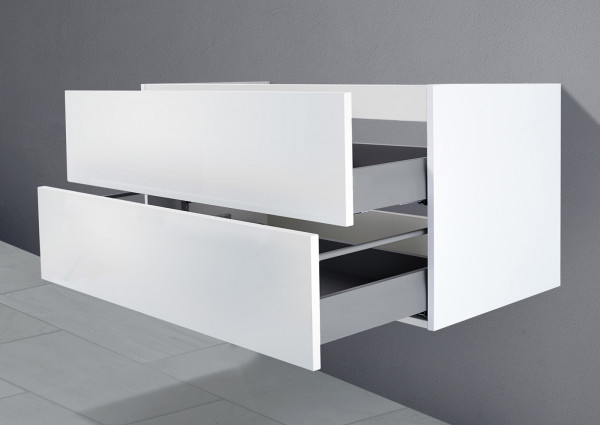 Unterschrank für Villeroy & Boch Subway 2.0 Doppelwt. 130 cm Grifflos Push To Open + Softclose